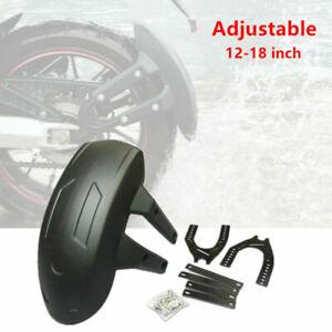 "Motorcycle Rear Wheel Fender Mud Flap Mudguard Frame Splash Guard Bracket 12-18"""