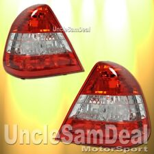 94-00 MERCEDES BENZ W202 C-CLASS 4 DR SEDAN OE STYLE RED CLEAR TAIL LIGHTS PAIR