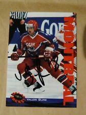 Valeri Bure Team Russia Montreal Canadiens autographed card