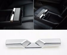 Chrome Rear Seat Armrest Storage Box Panel Decal Cover Trim for BMW 5 series f10
