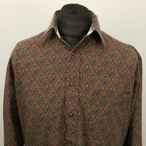 RETRO Vintage Shirt Funky Crazy 80s 90s LOOSE 40 MEDIUM RELAXED Abstract