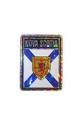 NOVA SCOTIA CANADA PROVINCIAL FLAG  METALLIC BUMPER STICKER 4 X 3 INCH