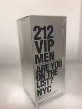 Carolina Herrera 212 VIP 3.4oz 100ml Men Eau de Toilette Original & Sealed Box