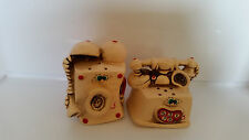 VINTAGE ANTHROPOMORPHIC TELEPHONE  SALT & PEPPER SHAKERS MADE IN JAPAN