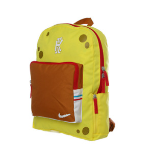 RARE Nike Kyrie 5 SpongeBob Kids Youth Yellow Backpack School Bag CN2219-731