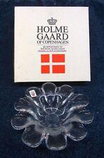 """NEW Vtg HOLMEGAARD Med GLASS PETAL BOWL Denmark by SIDSE WERNER 6 3/4"""" Dia NOS"""