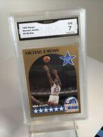 Near Mint 7: 1990 Michael Jordan ERROR Card #5 NBA Hoops All Star Chicago Bulls