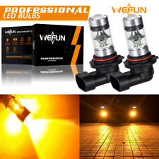 NEW 2x H10 9145 9005 2000K Yellow 100W CREE LED Headlight Bulbs Kit Fog Light