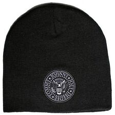 Ramones Presidential Seal Double Embroidered Logo Beanie Hat Winter Cap