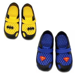 DC Batman Superman - Kinder Clogs Sandalen Badeschuhe Latschen Hausschuhe 23-30