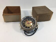 Vintage New Old Stock Delco Appliance Dash Clock General Motors Black & Tan 5