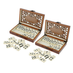 Retro Dominoes Tiles Set 28pcs/set Traditional Board Travel Game Toys Gift