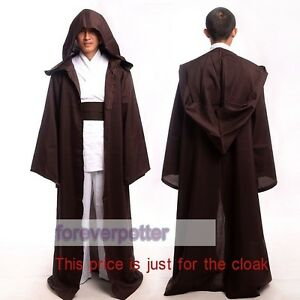 Star Wars JEDI Adult Kids Hooded Robe Cloak Cape Party Cosplay Costume 5 Sizes