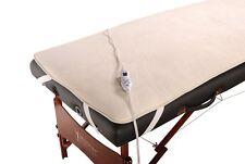Master Emr Safe & Ul Listed Massage Table Electric Warming Pad w/ Corner Straps