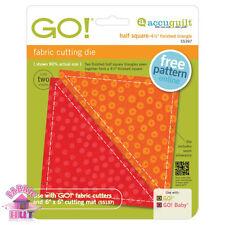 """55397- New Accuquilt GO! Baby Cutter Half Square 4 1/2"""" 4.5 inch Die 6 x 6 inch"""