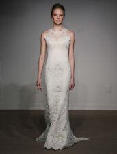 Ulla Maija Anna Maier Mary 4315 Lace Soft White Halter Sheath Wedding Dress