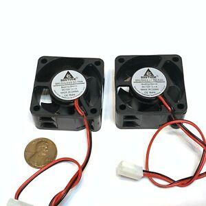 2 Pieces Fan 12v mini 40mm x 20mm 2pin 4020 dc mini micro brushless cooling A39