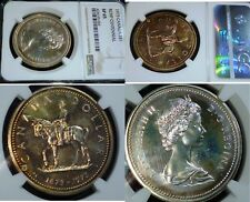 TONED - Canada 1973 Silver Dollar  NGC SP65
