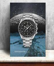 Omega Speedmaster moon watch print. Bold graphic art on canvas
