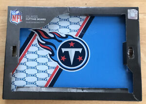 Tennessee Titans Glass Cutting Board Tempered Break Resistant 14x10 NEW