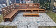 Divano angolare in legno con Pallet Bancali EUR  EPAL arredamento mt 2,90 x 2,40