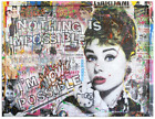 Audrey-Hepburn Nothing is Impossible – Print Limited Edition on Canvas