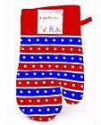 Patriotic Oven Mitt,Red/White/Blue Stripes,Stars,Cotton