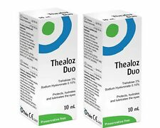 2X Théa Thealoz Duo Preservative Free Eye Drops (10ml)