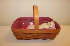 Longaberger Breast Cancer/Hope Inside Napkin Basket Set -New!