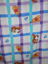 Vintage Winnie The Pooh Full Flat Sheet Cutter Fabric