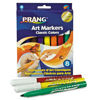 Dixon Prang Classic Art Markers, Conical Tip, Eight Colors, 8/Pack - DIX80128