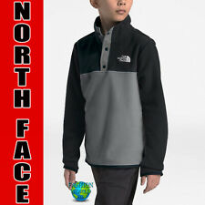 The North Face Boys XL (18-20) Glacier 1/4 Snap Pullover Fleece  Grey/Black