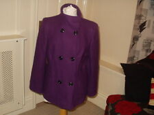 SMART PURPLE WOOL BLEND JACKET SMALL SIZE 20