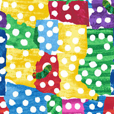 """ANDOVER """"THE VERY HUNGRY CATERPILLAR ENCORE"""" WHITE DOTS Multi by yard"""