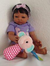 "Reborn African American/Ethnic/Biracial 17"" Preemie Baby Girl Doll  ""Missy"""