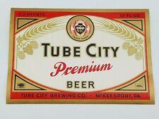 Tube City Beer Label Labels NOS New Old Stock Original Premium Beer McKeesport