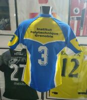 Maillot jersey shirt maglia rugby worn porté Polytechnique fc grenoble france XL