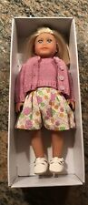 "American Girl KIT'S MINI DOLL 6"" + Book in Box Blonde Kit Dress Retired"
