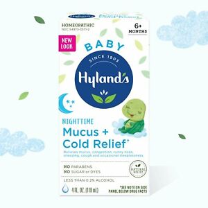 Hylands Baby Nighttime Mucus + Cold Relief Syrup   4 fl oz   Pack of 8