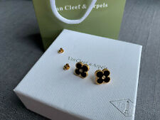 Alhambra Classic Gold Small Mother Of Pearl Stud Earrings VCA