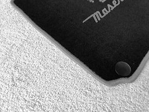 Black velours floor mats for Maserati Ghibli SQ4 2013-2017 gray