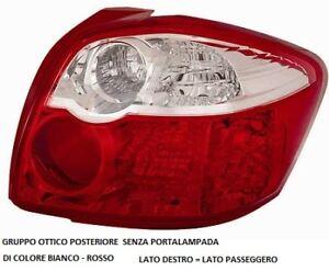 FARO FANALE POSTERIORE TOYOTA  AURIS 2010 2012 BIANCO/ROSSO DESTRO (507160)