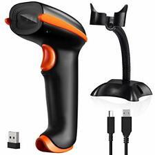 Tera [Upgraded Version] Barcode Scanner Wireless 1D 2D 2-in-1 D5100, Orange