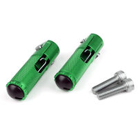 CNC Folding Foot Pegs Footpeg Rear Set Rest Racing For Universal Motorcycle Gren