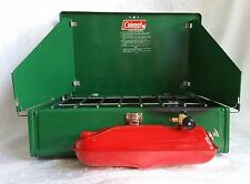 1974 COLEMAN 425 E Two Burner CAMP STOVE ORIGINAL Box + Manual 425E499 VINTAGE