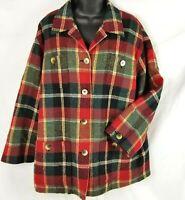 Jones New York Sport Jacket Wool Womens Plaid Coat Blazer Lined Red Sz M Petite