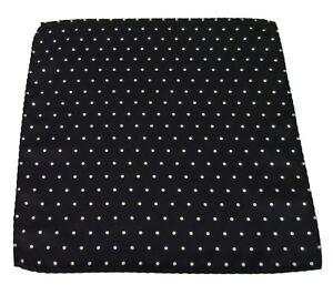 Mazeys Black Polka Dot Pocket Square