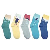 1/5Pairs Fashion Women Lovely Cute Cat Socks Animal Cartoon Cotton Ankle Socks