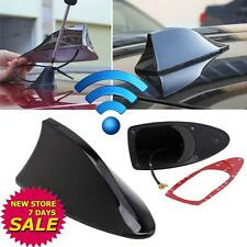 Black Universal Auto Car Roof Radio AM/FM Signal Shark Fin Aerial Antenna NEW TB