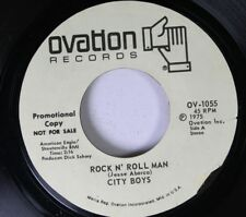 Rock Promo 45 City Boys - Rock N' Roll Man / Goodbye For Now On Ovation Records